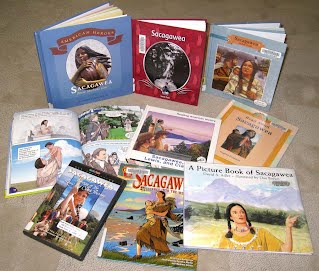 Sacagawea books from the library