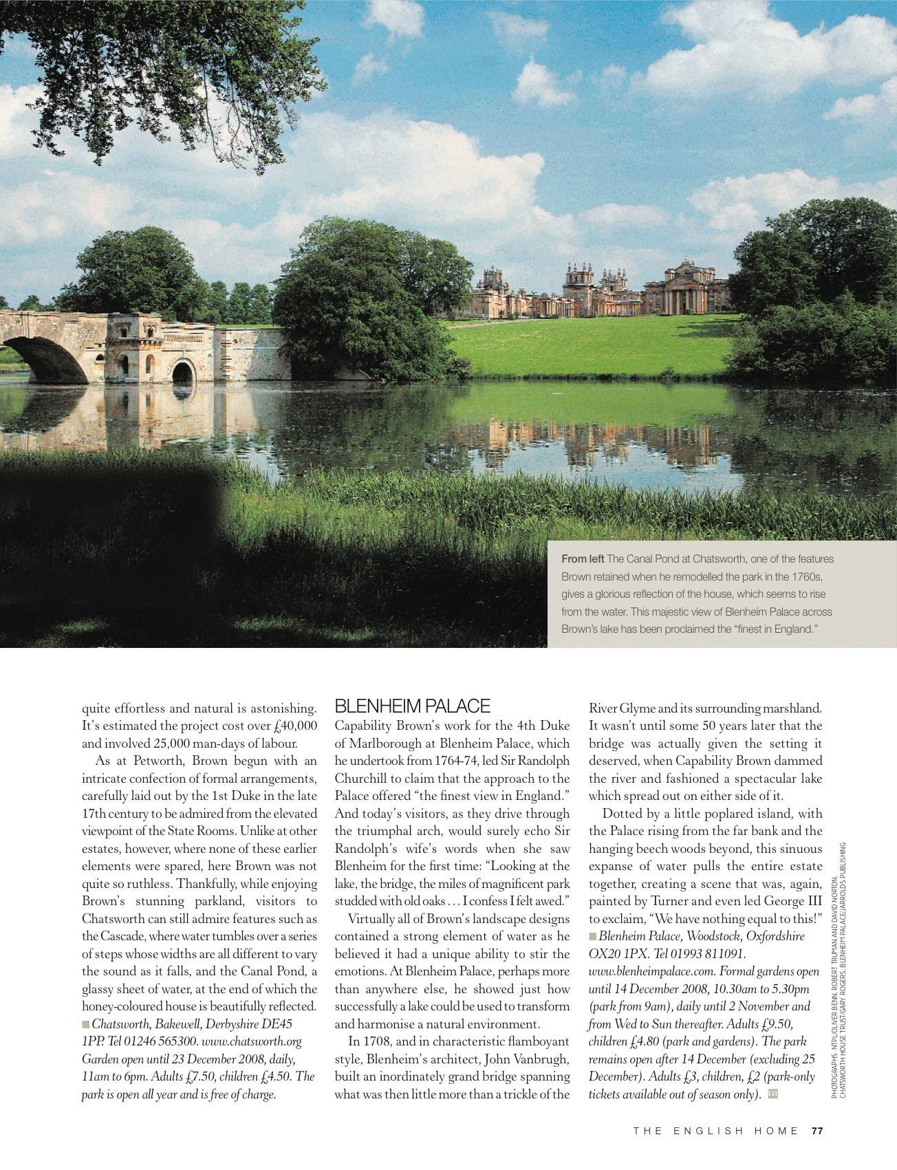 History harrietpaige for Capability brown garden designs