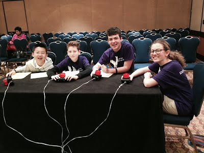 Brian, David, Sam, and Lily at 2014 NAQT MSNCT