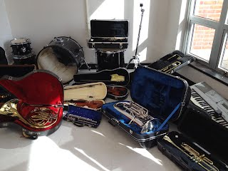 Some of the instruments donated at the 2014 ECHO Project collection.