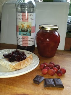 Cherry chocolate and Bourbon Jam