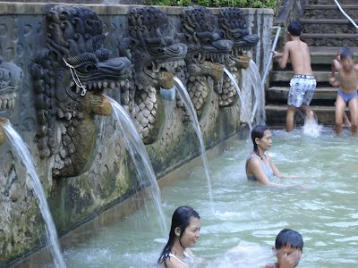 The hot springs in the north of Bali near Singaraja