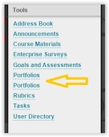 a list of options under Tools, with Portfolios highlighted