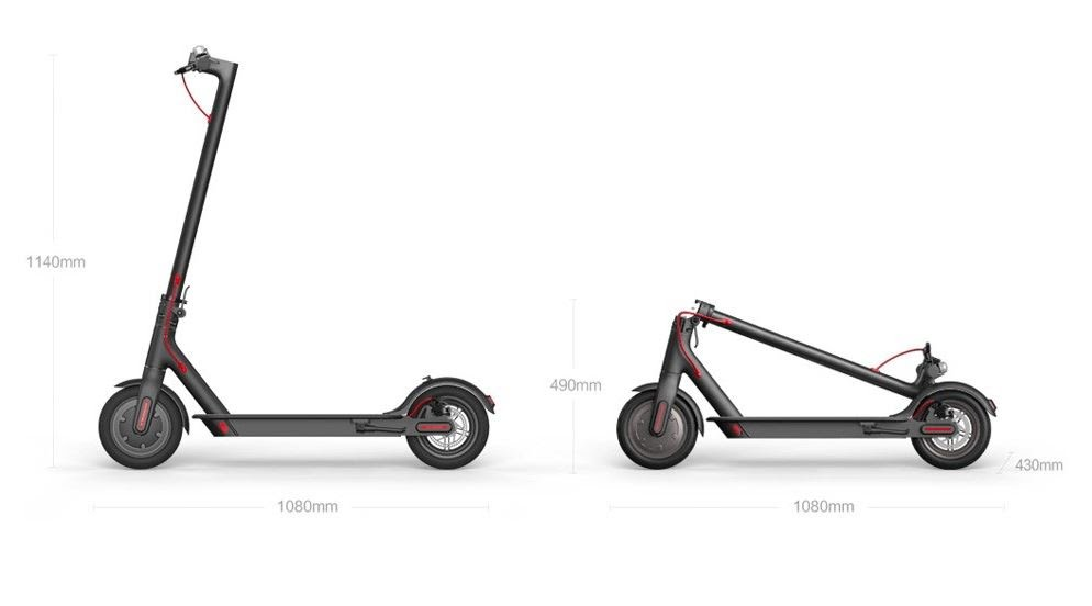 M365 electric Scooter dimensions