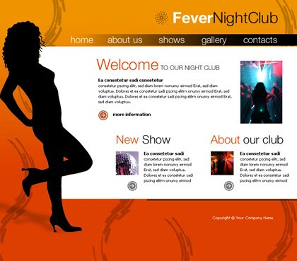 Flash Nighclub Orange Website Template