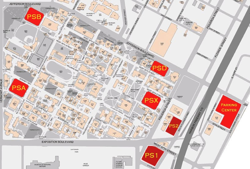 Usc Campus Map Parking Creativehobby Store