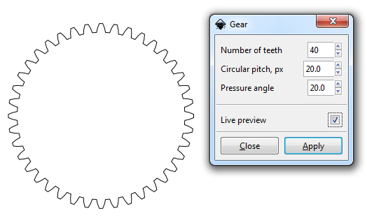Making Gears in Solidworks with Inkscape: a brief overview