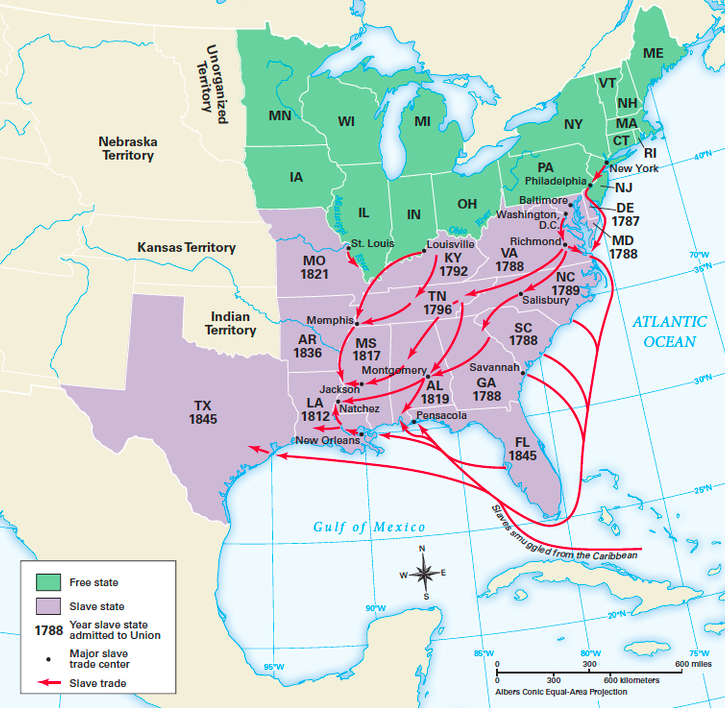 Slave Trade In The US HNES Social Studies - 1808 map of the us