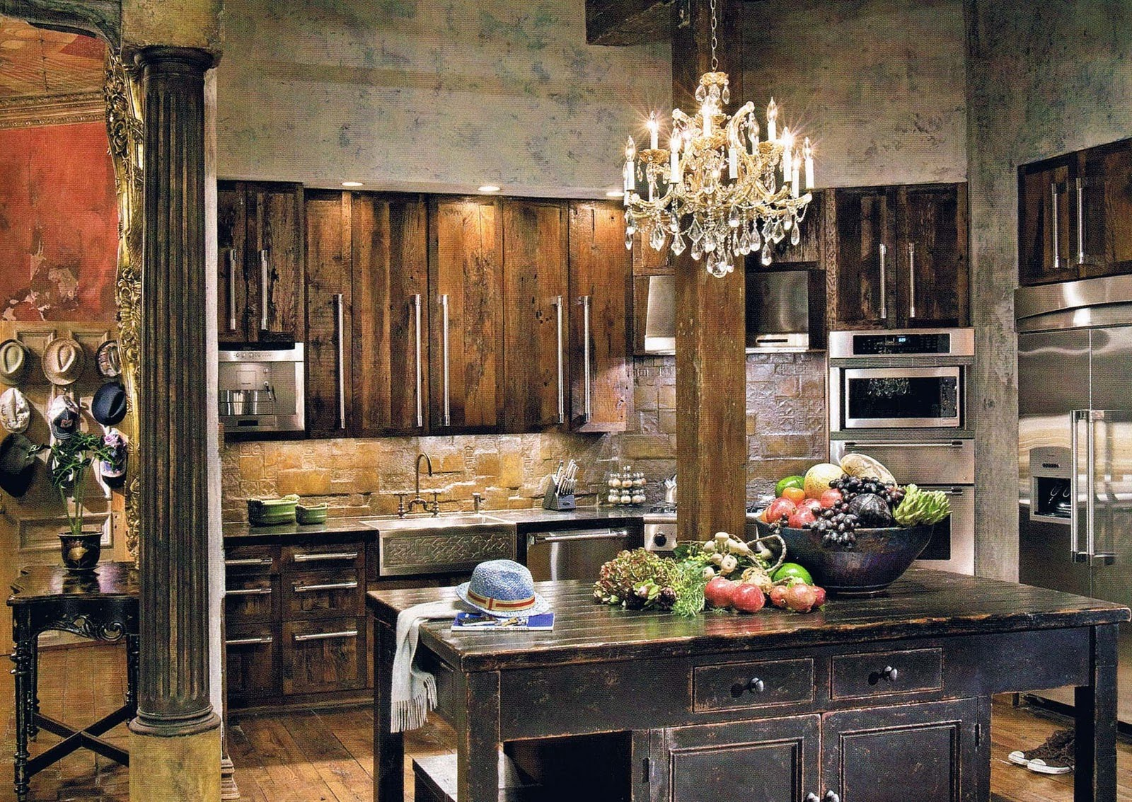 Vintage And Rustic House Kitchen