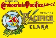 Mazatlan's own beer PACIFICO CLARA. Available in Bottles or Cans)