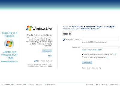 Windows live messenger mail accedi  MSN messenger account