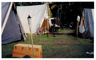 Connor's tent, our tent, and Grimnir's tent, back in the day