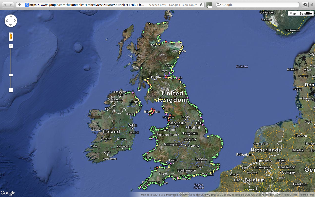 uk beach ranking map how clean are britains beaches