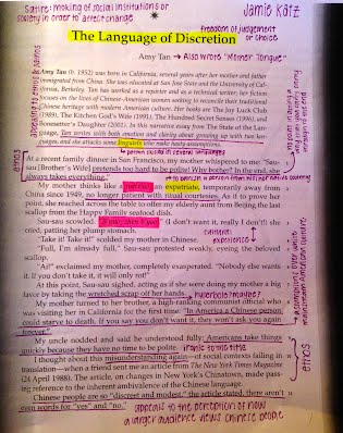 Annotations Satire Project