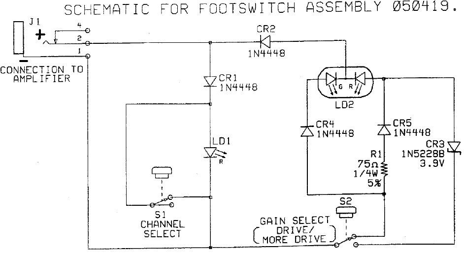 [CSDW_4250]   Two amps driven by one switch | Wiring Diagram Guitar Amp Footswitch |  | VGuitar Forums