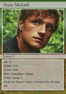 Character Trading Cards Hunger Games Books Erich
