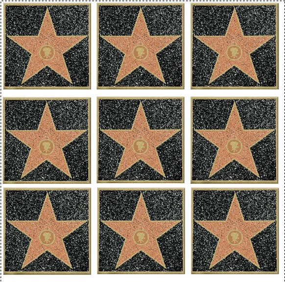image about Hollywood Star Template Printable named Hollywood Wander of Fame Printable