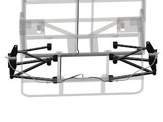 LHD - Rear Brake Lines - Lower Rails Set-Up - Hydraulic For