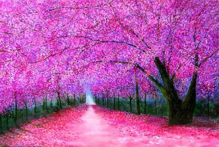 Cherry Blossoms Japan Fantasia