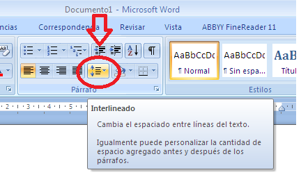 Informatica parrafo for En word cual es el interlineado