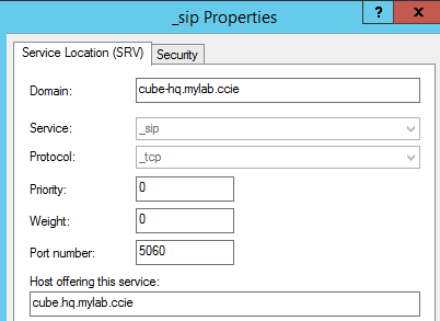 SIP Trunk using DNS SRV - IE Knowledge Base