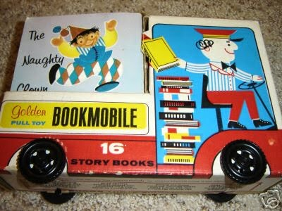 Golden Bookmobile Pull Toy, 1966