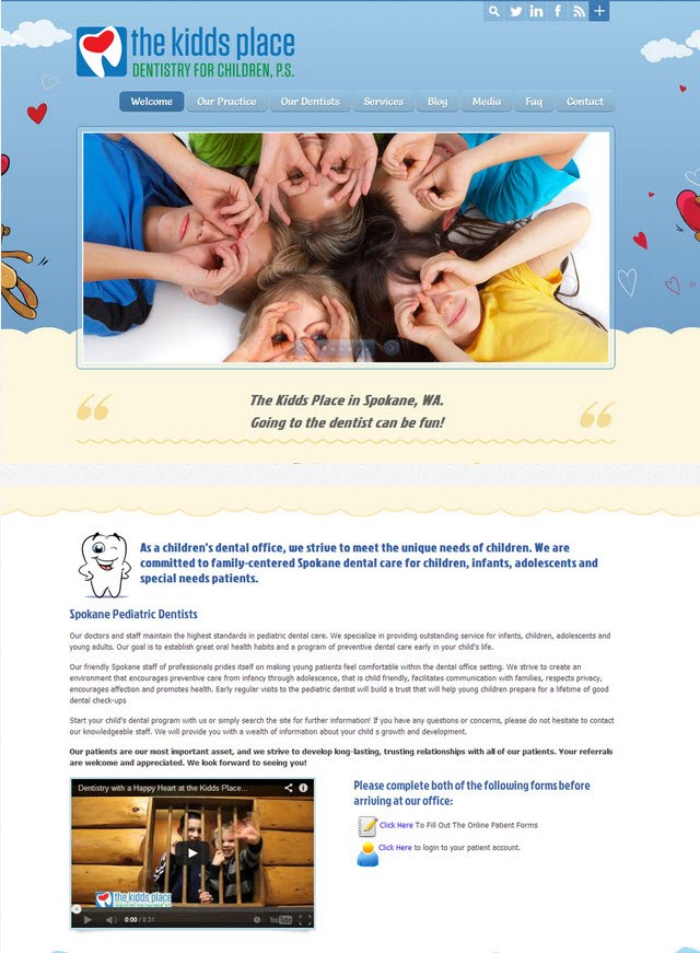 The Kidds Place – Dentistry Website Spokane, WA - Image Submission