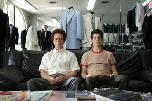 Danny(Steven Kaplan) with his father Ernie Stein(William H. Macy) choose outfits for the prom