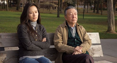 Mr. Shi and his daugher Yilan at the local park