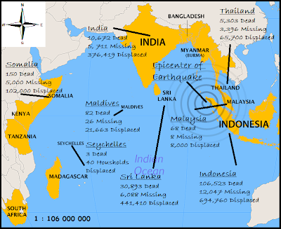 the indian ocean earthquake and tsunami The 2004 indian ocean tsunami lifted the seabed and moved it sideways along a 1,600 km (1000 mile) crack in the earth's surface the indian plate slipped beneath the burma plate during the earthquake.