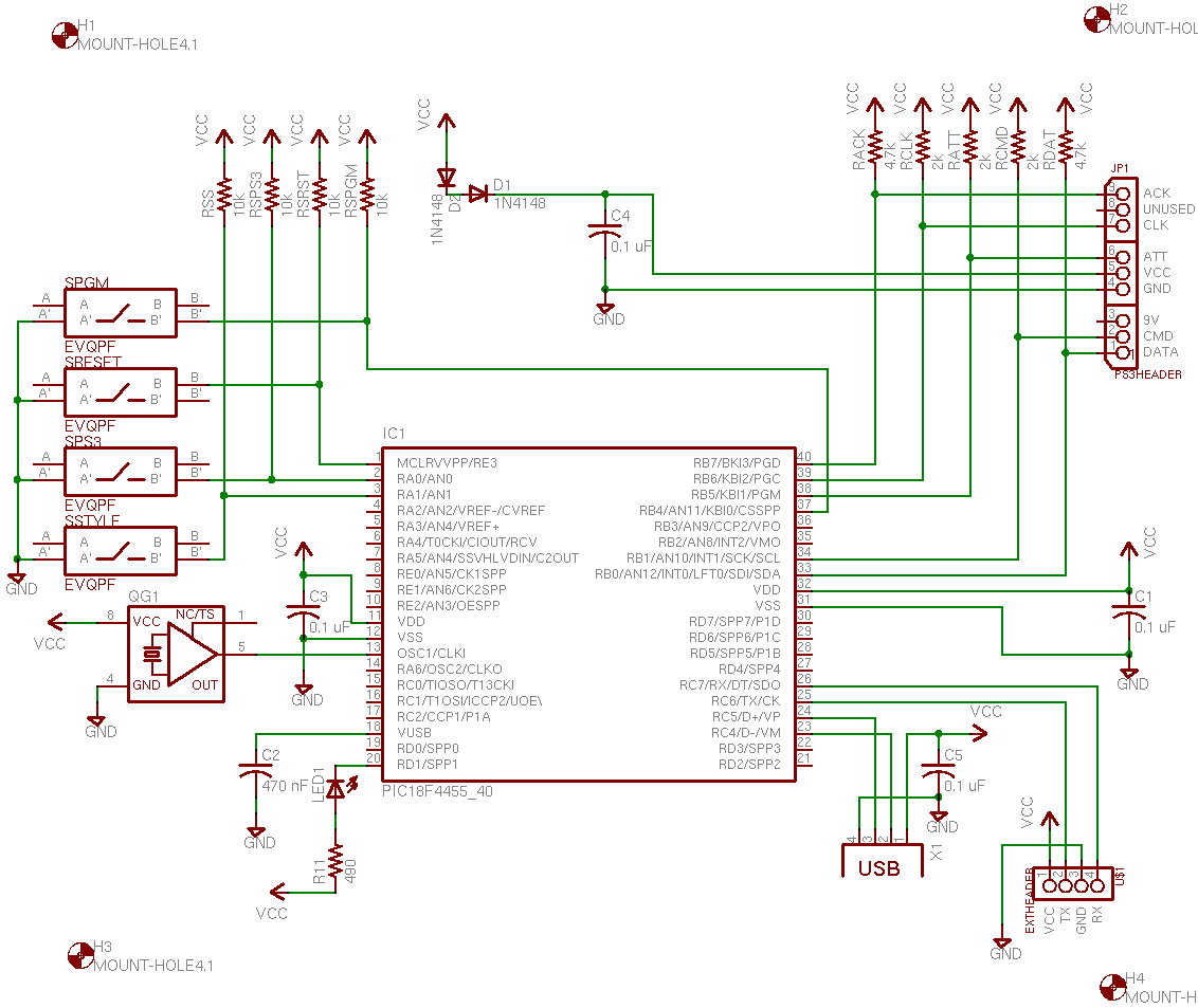 home made ps2 controller to usb?? - console gaming - linus ... playstation 2 circuit diagram pickit 2 circuit diagram