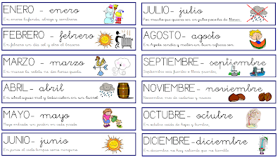 2 4 Meses Del Ano Months Of The Year Ingles2