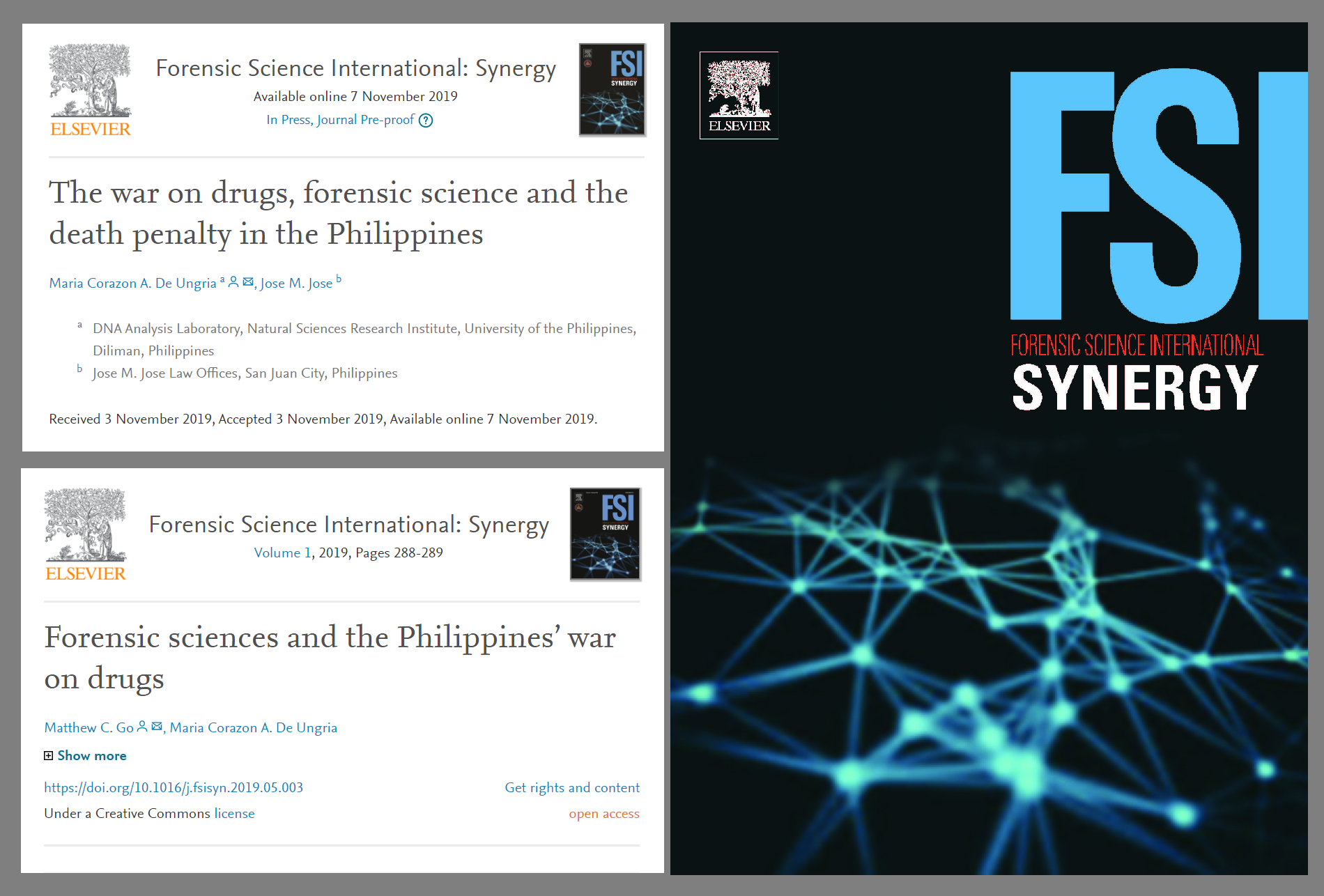 Recently Published Open Access Papers On The War On Drugs Forensic Science And The Death Penalty In The Philippines Innocents Project Philippines Network
