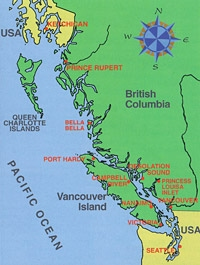 Inside Passage Map insidepassage