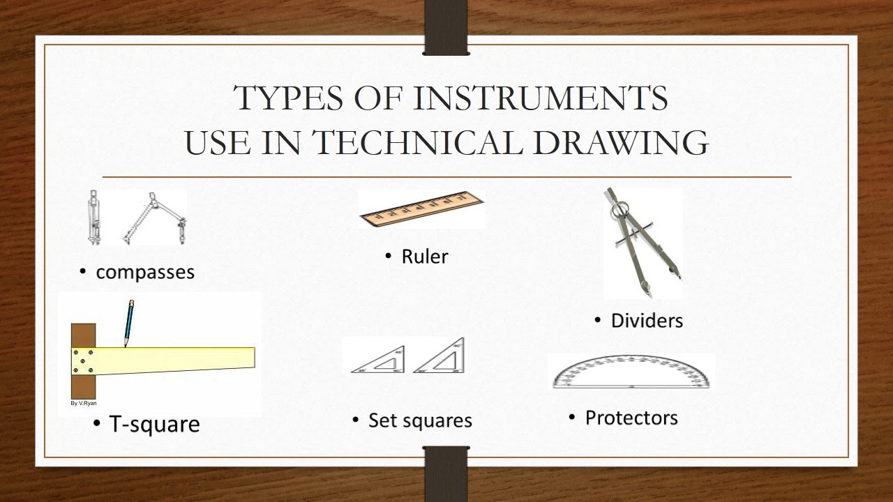 Instruments Used In Technical Drawing Introduction To Technical