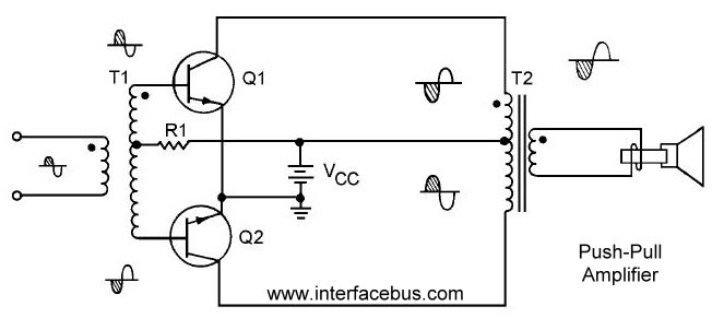 3055 transistor amplifier circuit diagram