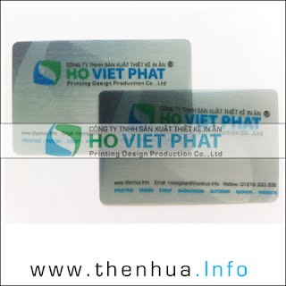 In Name card trong suốt, Card visit trong suốt