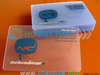Name card nhựa trong suốt