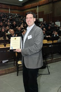 Recieving the software freedom kosovo prize 2011