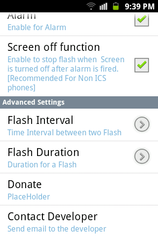 make phone flash when ringing android