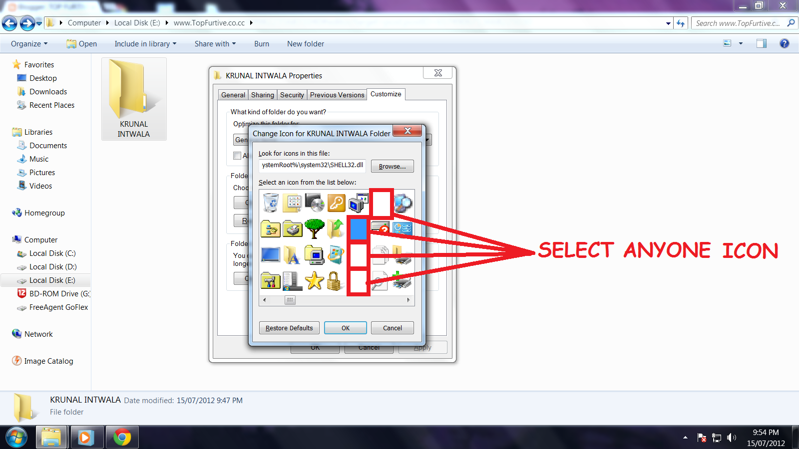 How to create an invisible folder on your desktop 77