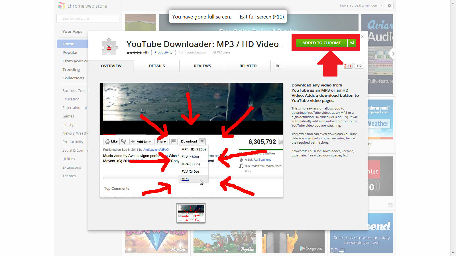 TOP FURTIVE: DOWNLOAD YOUTUBE VIDEOS IN GOOGLE CHROME USING