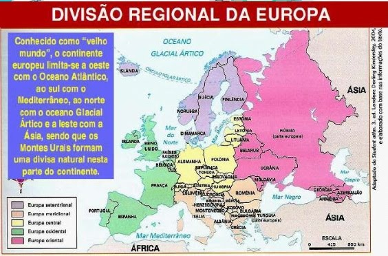 mapa da europa ocidental As regiões do continente europeu A Europa Ocidental A Europa  mapa da europa ocidental