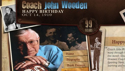 John Wooden Birthday Graphic