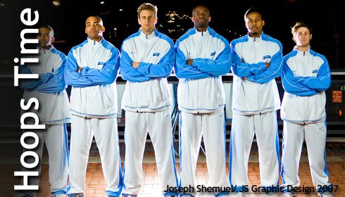 Photo of Columbia Lions Basketball Team shot for magazine cover by Joseph Shemuel of JS Graphic Design