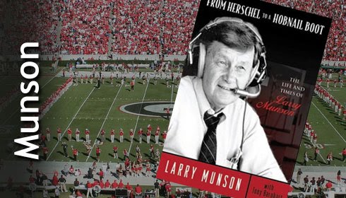 Larry Munson Book over Sanford Stadium Field
