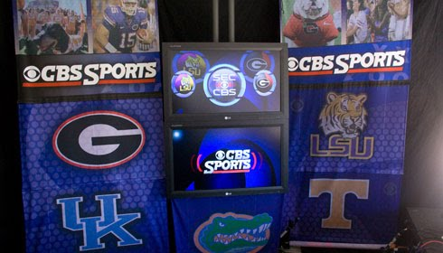 SEC on CBS Sports Stage Background
