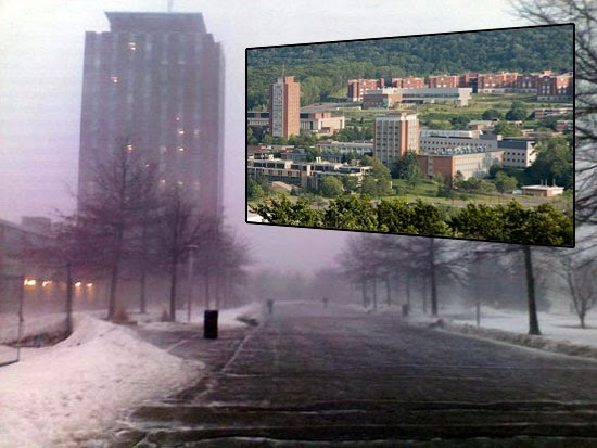 Contrasting images of Binghamton University
