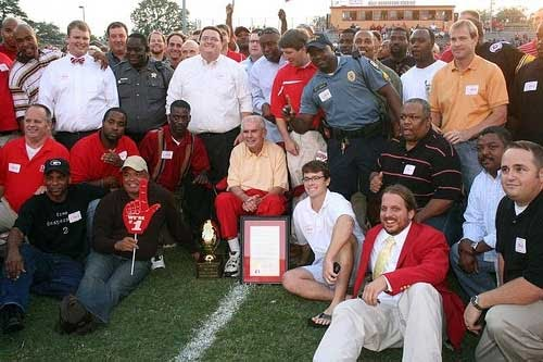 Legendary Clarke Central High School (Athens, GA) Football Coach Billy Henderson is honored before the September 11, 2009 game between Clarke Central and Habersham County High School