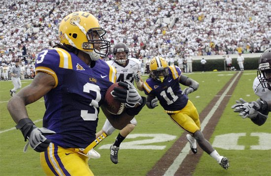 LSU's Chad Jones running punt back for touchdown